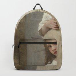 William-Adolphe Bouguereau - Yvonne on the doorstep Backpack