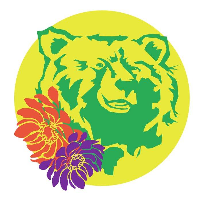 Hawaii Bear Anemone Duvet Cover