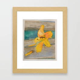 Shabby Lily Framed Art Print