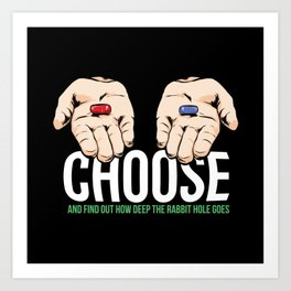 Matrix blue or red pill quote