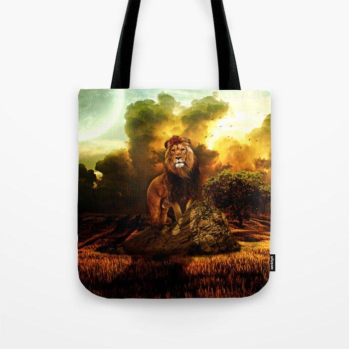 Lion V Tote Bag