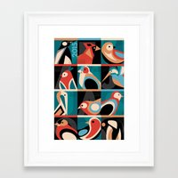 calendar 2015 Framed Art Prints featuring Geometric Bird 2015 Calendar by Marcella Caraballo