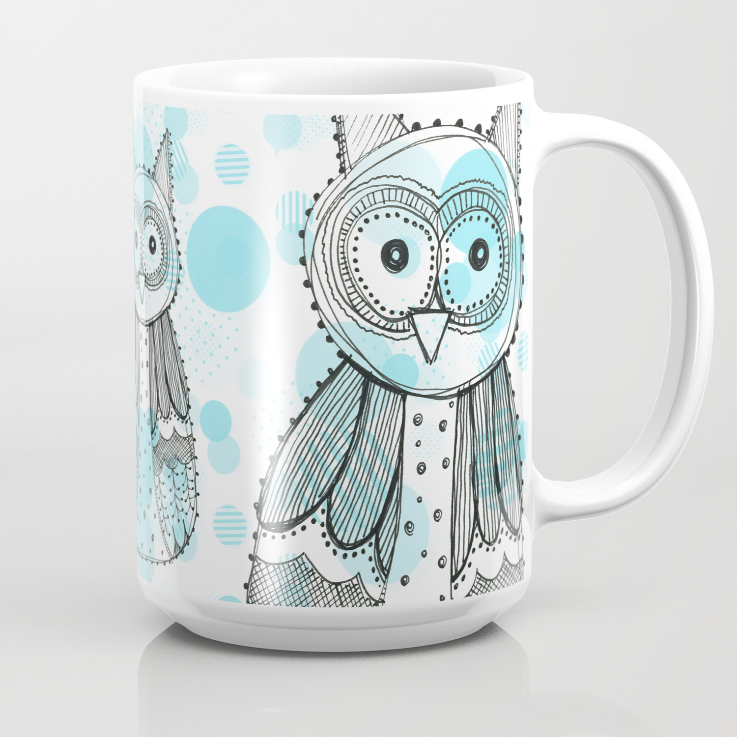 Owl cup Blue