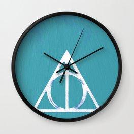 Deathly Hallows - Blue Wall Clock