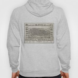Vintage Pictorial Map of Richmond Indiana (1884) Hoody
