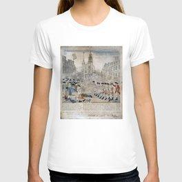 Vintage Boston Massacre Illustration (1770) T-shirt