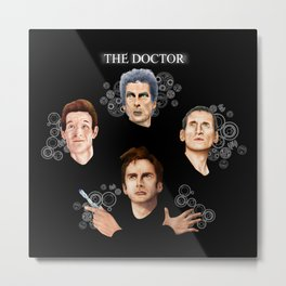 9th 10th 11th and 12th Doctor who iPhone 4 4s 5 5c 6 7, pillow case, mugs and tshirt Metal Print