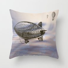 Beginning of airship travel Throw Pillow