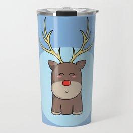Cute Kawaii Christmas Reindeer Travel Mug