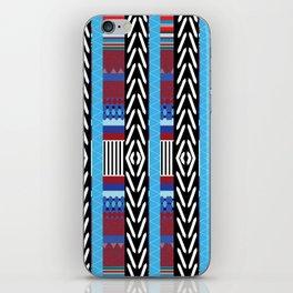 Black Blue Etnic iPhone Skin