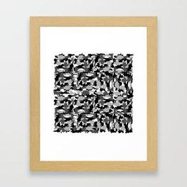 black and white Background Pattern Camo Framed Art Print