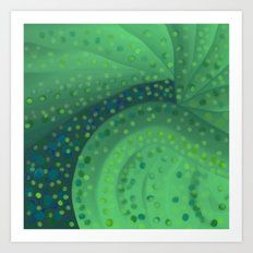 Gold and Green Coins Art Print