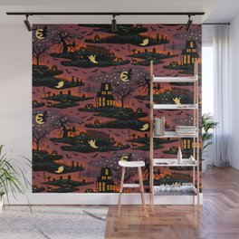 Halloween Night - Bonfire Glow Wall Mural