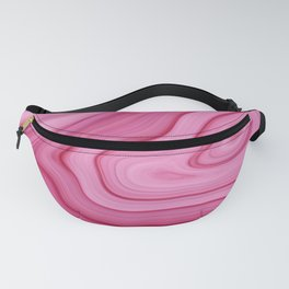 Pink Watercolor Marble Fanny Pack