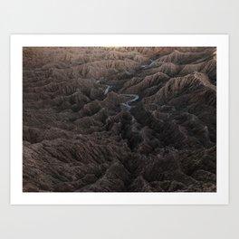 Borrego Badlands Art Print