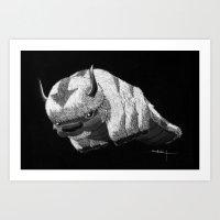 appa Art Prints featuring Bison by Creadoorm