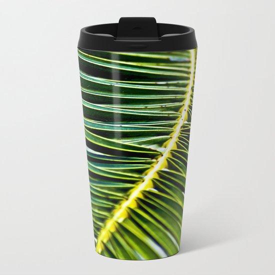 Magic Green Palm Leaves Metal Travel Mug