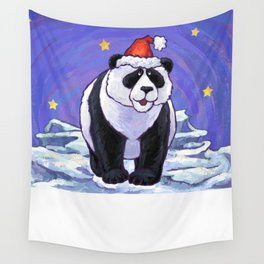 Panda Bear Christmas Wall Tapestry