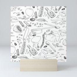 Baking Supplies Toile Mini Art Print