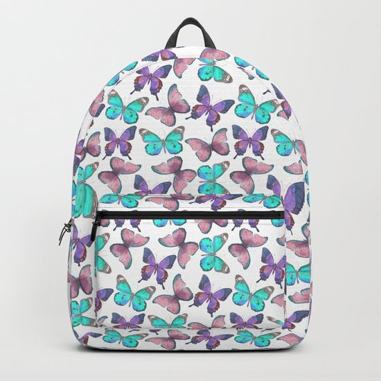 Flutter Butterfly Pattern Backpack