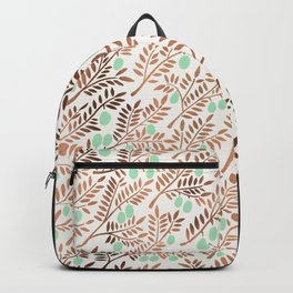 Olive Branches – Rose Gold & Mint Backpack