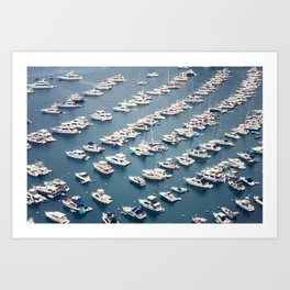 Avalon Harbor Art Print