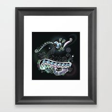 Tangle fascination in the dark Framed Art Print