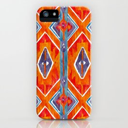 navajo ikat print medium iPhone Case
