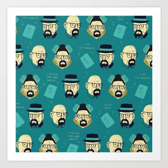 heisenberg pattern Art Print