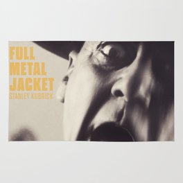 Full Metal Jacket, Stanley Kubrick, alternative movie poster, minimalist print, Vietnam War, Marines Rug