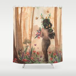 Nothing Dies Here Shower Curtain