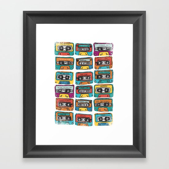 MIXTAPE - ANALOG zine Framed Art Print
