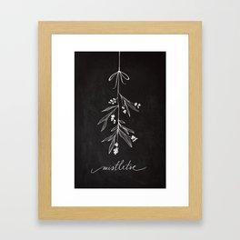 Chalkboard Art - Mistletoe Framed Art Print