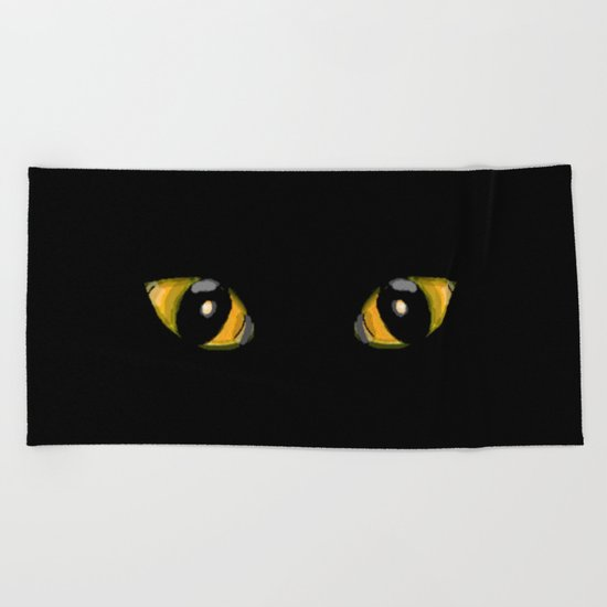 Cats Eyes Beach Towel
