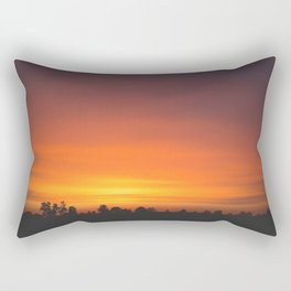 SUNRISE - SUNSET - ORANGE SKY - PHOTOGRAPHY Rectangular Pillow