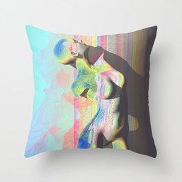 Digital Decadence Throw Pillow