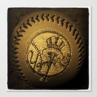 yankees Canvas Prints featuring yankees by freak