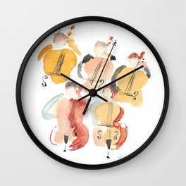 All About that Double Bass Section Wall Clock