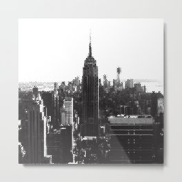 Halftone New York Skyline Metal Print