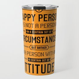 Lab No. 4 A Happy Person Is Not Hugh Downs Motivational Quote Travel Mug