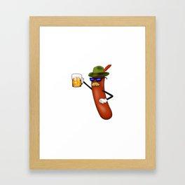 Octoberfest Survivor Oktoberfest German Beer Drink Framed Art Print