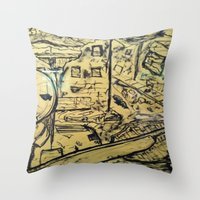 soldier Throw Pillows featuring Soldier by Pedro Rafael