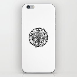 Crescent Moon Pentacle iPhone Skin