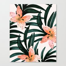 Tiger Lily Tropical Canvas Print