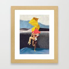 The Lovers vs the Elements - PAINTING Framed Art Print