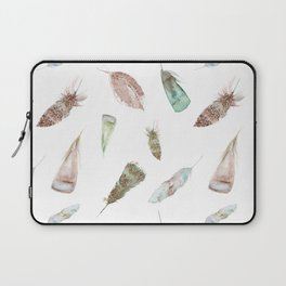 Feather collection in nature colors Laptop Sleeve