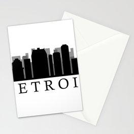 detroit skyline Stationery Cards