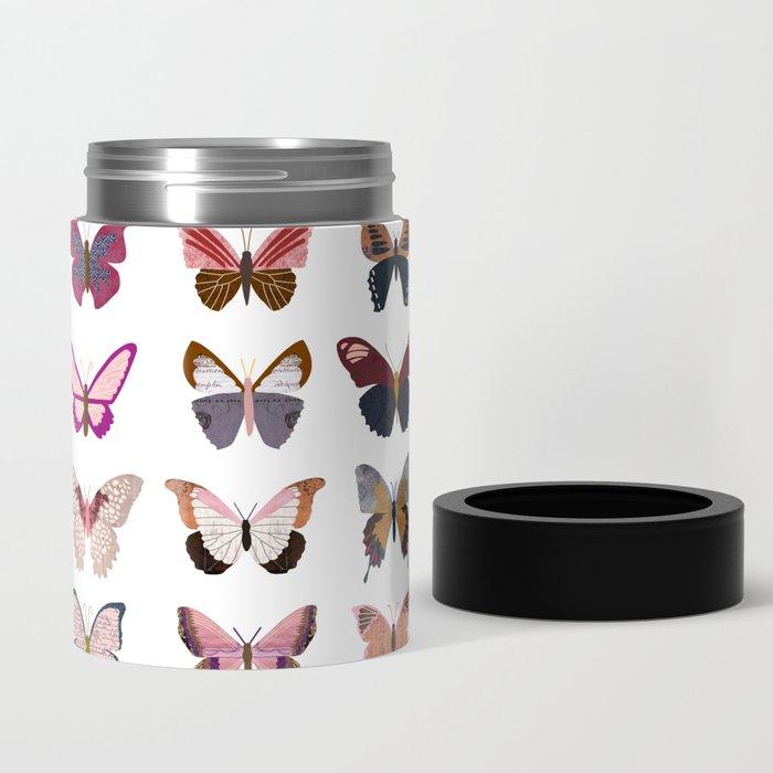 Pink Butterflies Can Cooler
