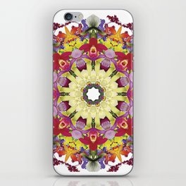 Abundantly colorful orchid mandala 1 iPhone Skin