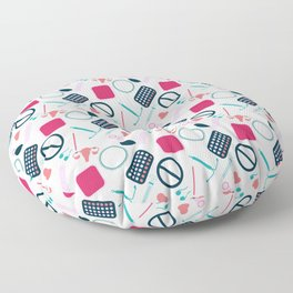 Contraception Pattern Floor Pillow